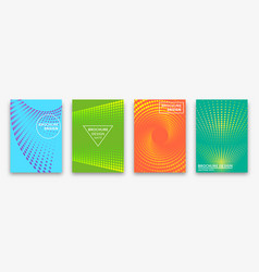 brochure design with halftone dots and neon vector image