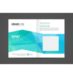 Brochure Flyer design business Layout vector image