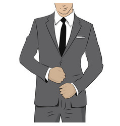 business man in suit and tie vector image