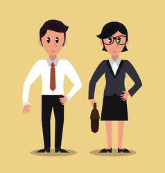 business partners cartoon vector image