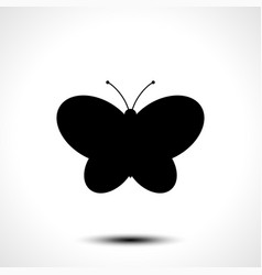 Butterfly icon butterfly silhouette vector