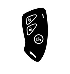 Car key and of the alarm system black color icon vector