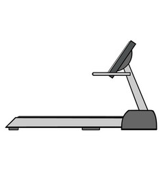 cartoon of empty treadmill vector image