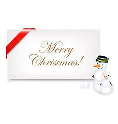 Christmas Blank Gift Tag vector