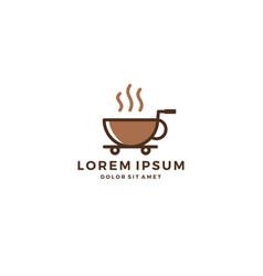 coffee shop store retail mug logo download vector image