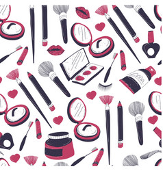 cosmetic products for facial care and make up vector image