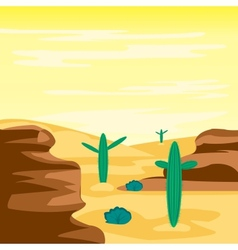 Desert and cactuses vector