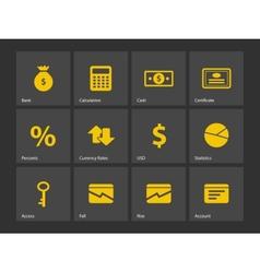 Economy icons vector
