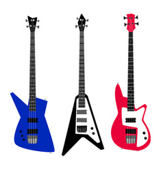 electric guitar set vector image