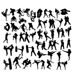 Extreme sport and martial art vector