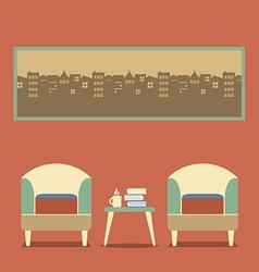 Flat Design Empty Seats Vintage Interior vector