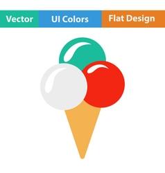 Flat design icon of Ice-cream cone vector image