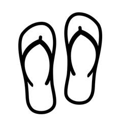 flip flops sandal beach wear line art icon vector image