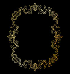floral border for picture or italian ornament vector image