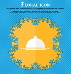 Food platter serving sign icon Table setting in vector image