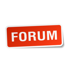 Forum square sticker on white vector