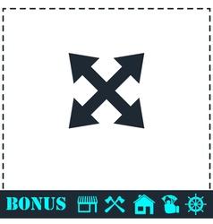 Four arrows icon flat vector
