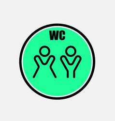 Funny wctoiletrestroom door plate symbolsman vector