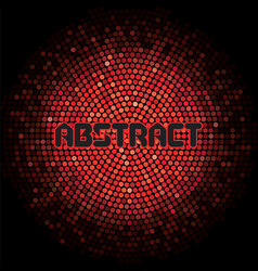futuristic abstract background with red mosaic and vector image
