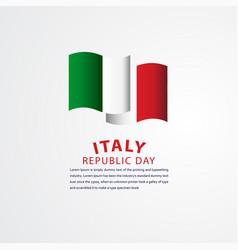 Happy italy republic day celebration template vector