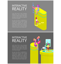 interactive reality tennis set vector image