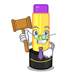 Judge lip balm in the cartoon shape vector