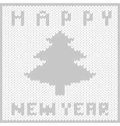 Knitted fabric new year vector image