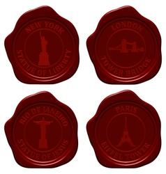 landmark sealing wax set vector image