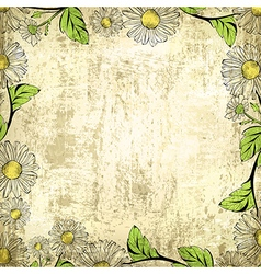 Leaf Grunge Vintage Floral Frame Background vector