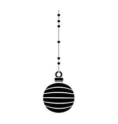 merry christmas ball decorative vector image