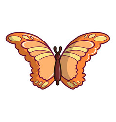 Monarch butterfly icon cartoon style vector