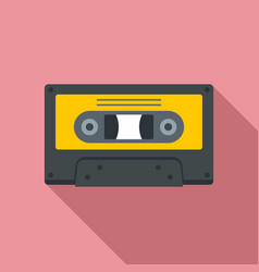 Music cassette icon flat style vector