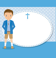 my first communion boy vector image