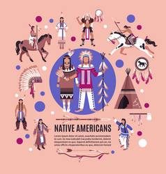 Native americans design concept vector