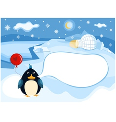 north pole background vector image