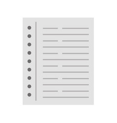 notebook leaf isolated icon vector image