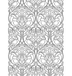 Pattern with birds for wallpaper vector