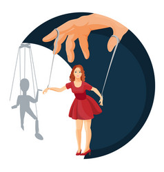 Physical manipulation over woman social problem vector