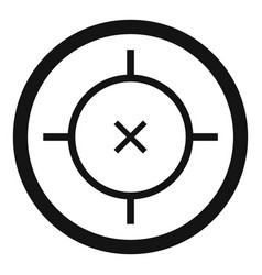 Pistol gun aim icon simple style vector
