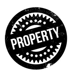 Property rubber stamp vector