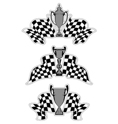 Racing sport emblems vector image