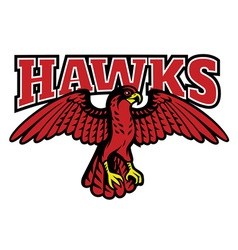 Red hawk mascot vector