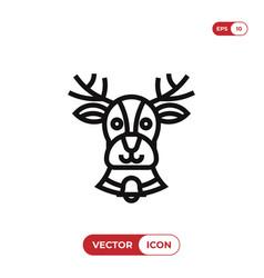reindeer icon vector image