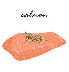 salmon fish food help fat burning vector image