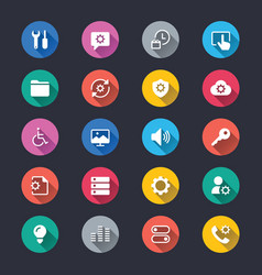 setting simple color icons vector image