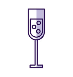 Shadow champagne cup cartoon vector