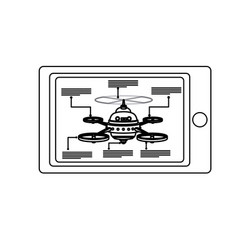 Smart controller digital drone technology vector
