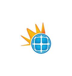 solar logo inspiration isolated on white vector image