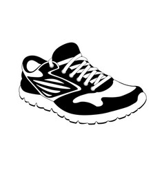 sports sneakers in on white background vector image