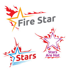 Symbols burning stars vector
